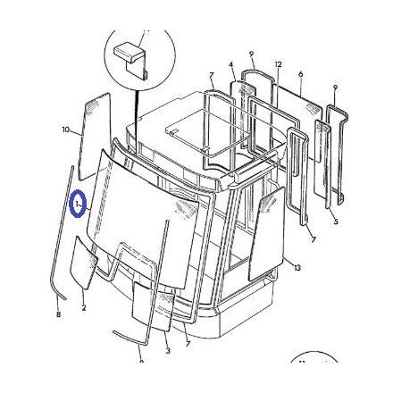 333/V0529 JCB Első szélvédő